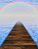 Weg in wolken vector illustratie