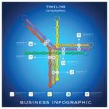 Weg-Zeitachse-Geschäft Infographic-Design-Schablone Stockbilder