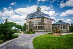 Weg zu Howard Peters Rawlings Conservatory in Druide-Hügel-PA lizenzfreies stockbild