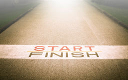Weg zum Erfolg und zur Zukunft, Weg zum Erfolg und die zukünftige Straße Lizenzfreie Stockfotografie