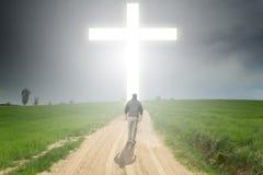 Weg zum Kreuz Lizenzfreies Stockbild