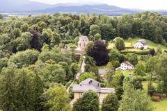 Weg zum Schloss Lizenzfreies Stockbild