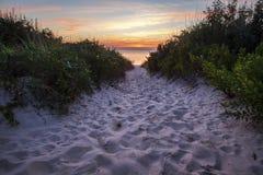 Weg zum Sonnenuntergang Stockbild