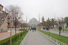 Weg zur Sultanahmet-Moschee in Istanbul, die Türkei Stockfotografie
