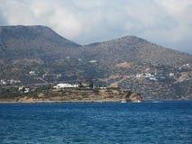 Weg zwischen Himmel und Land in Kreta Lizenzfreies Stockfoto