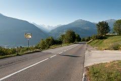 Weg in Zwitserland Royalty-vrije Stock Afbeeldingen