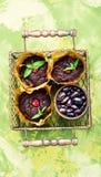 Weganinów muffins od cynaderki fasoli fotografia stock