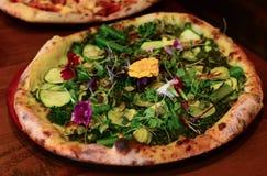 Weganin pizza Zdjęcia Royalty Free