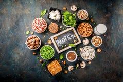 Weganin proteiny źródła Fotografia Stock