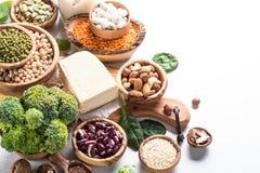 Weganin proteiny źródło obrazy royalty free