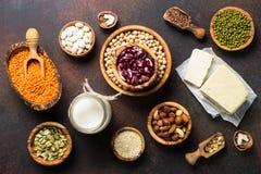 Weganin proteiny źródło zdjęcie stock