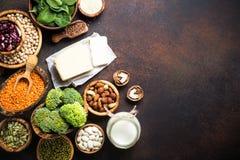 Weganin proteiny źródło zdjęcia stock