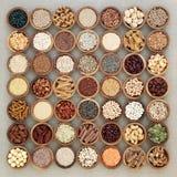 Weganin Wysoki - proteinowy zdrowia jedzenie zdjęcie stock