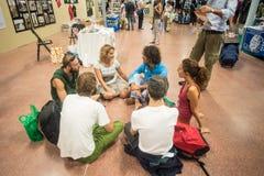 Weganinu Fest przy Sana Bologna na Wrześniu 2013 zdjęcia stock