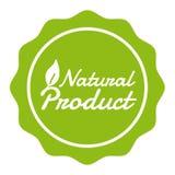 Weganinu guzika Naturalnego produktu odznaka Eps10 wektoru sztandar royalty ilustracja