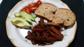 Weganinu jedzenie Fotografia Royalty Free