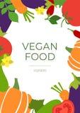 Weganinu jedzenie Warzywa nakreślenia menu rama Świeży pomidor, oberżyna, ogórek, bania, marchewka i chili pieprz, R?ka rysuj?cy  ilustracji