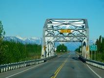 Wegbrug in Alaska Stock Foto