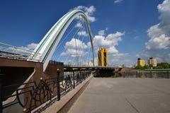 Wegbrug in Astana Royalty-vrije Stock Foto's