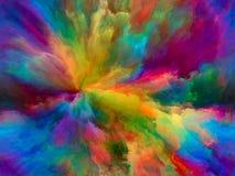 Wege der Farbe lizenzfreie abbildung
