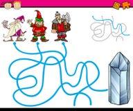 Wege oder Labyrinthkarikaturspiel Stockbilder