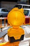 Wegenbouw geel teken Royalty-vrije Stock Foto's