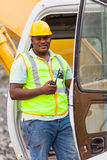 Wegenbouwarbeider Royalty-vrije Stock Foto's