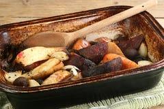 Wegetables del invierno de la carne asada imagen de archivo
