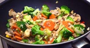 wegetarianin smażone jedzenie Zdjęcia Stock