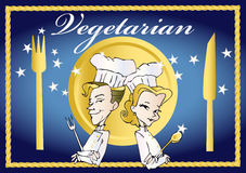 wegetarianin weganinu serii Obrazy Royalty Free
