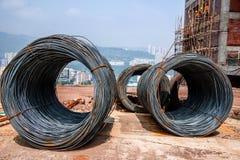 Weggelaufener Stahl für Hochbau Stockbild