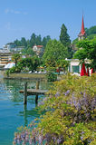 Weggis,Lake Lucerne,Switzerland. The Village of Weggis at lake lucerne,switzerland Royalty Free Stock Image