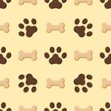 WEGhintergrundformschattenbild-Vektorillustration des flachen nahtlosen Musters des Hunde- oder Katzentatzenhundeabdruckes Tier Stockfoto