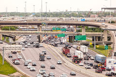 Wegkruising in Dallas royalty-vrije stock afbeeldingen