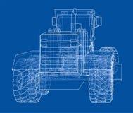 Wegnivelleermachine 3D Illustratie Royalty-vrije Stock Afbeeldingen