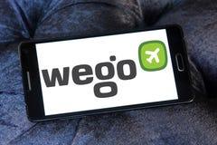 Wego旅行公司商标 库存图片