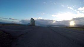 Wegpens in de Faeröer stock videobeelden
