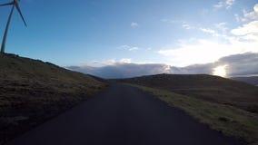 Wegpens in de Faeröer stock footage