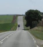 Wegperspectief in het platteland Stock Fotografie