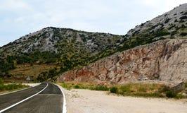 Wegreis op Dugi Otok Kroatië stock foto