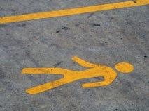 Wegsignal auf Straße Lizenzfreie Stockbilder