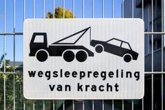 Wegsleepregeling в kracht стоковая фотография