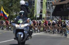 "Wegstadium 17 Tour de France 2016: Bern-swi †""Finhaut Emosson (swi) Lizenzfreie Stockfotografie"