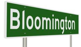 Wegteken voor Bloomington Stock Foto
