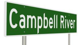 Wegteken voor Campbell River British Columbia Canada Stock Fotografie