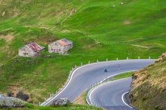 Wegtrog de Alpen Stock Foto