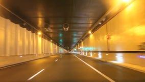 Wegtunnel stock footage