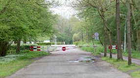 Wegversperring in Nederland royalty-vrije stock foto