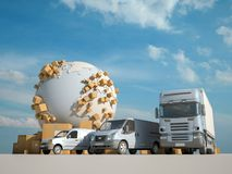 Wegvervoer stock illustratie