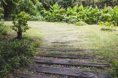 Wegweise zum Garten Lizenzfreies Stockfoto